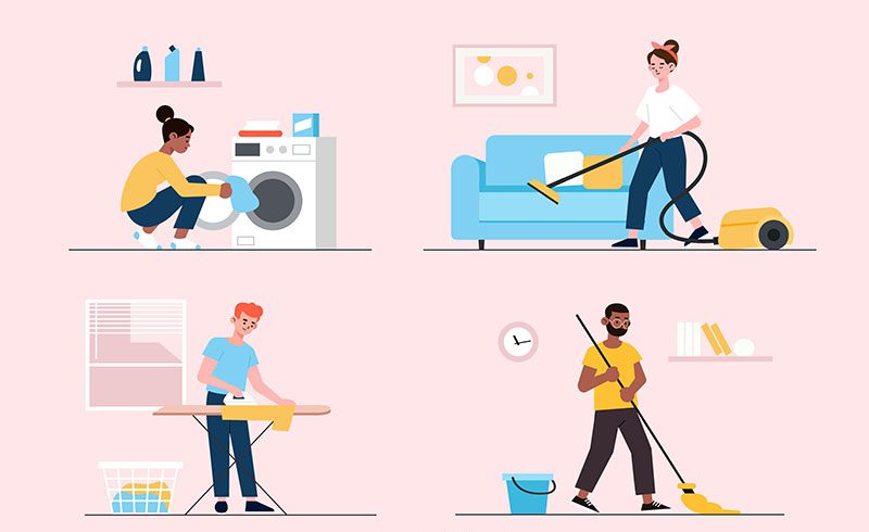 Room-by-Room Cleaning